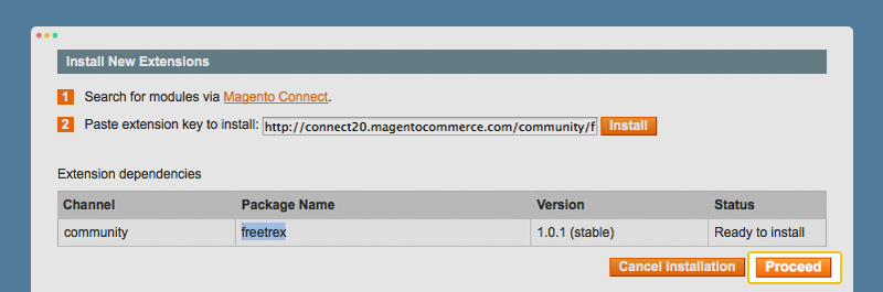 Proceed the Magento Installation