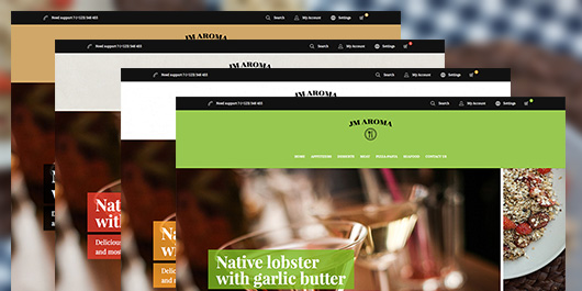 5 color options in Responsive Magento theme Aroma