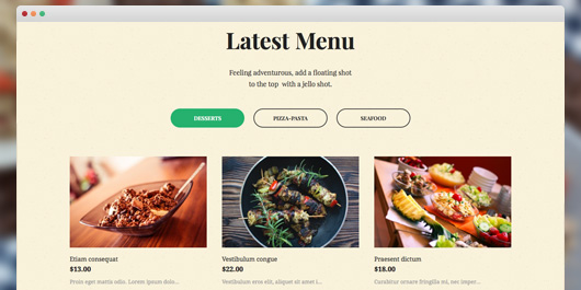 responsive Magento theme Aroma feature