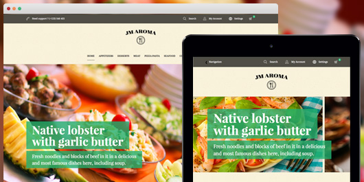 Responsive web design for Responsive Magento theme Aroma