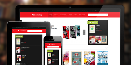 Responsive Magento theme Bookshop feature