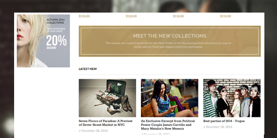responsive Magento theme Casual feature