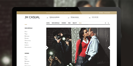 Responsive Magento theme Casual's  2 column layout