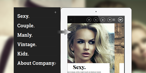 Responsive Magent theme feature
