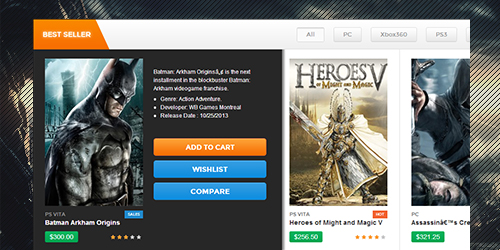 Gamestore feature