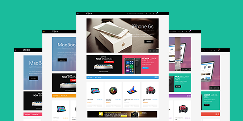 Responsive Magent theme iTech feature
