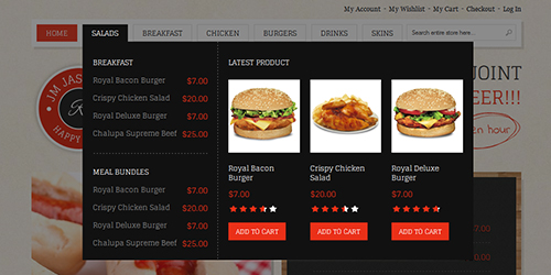 responsive Magento theme feature