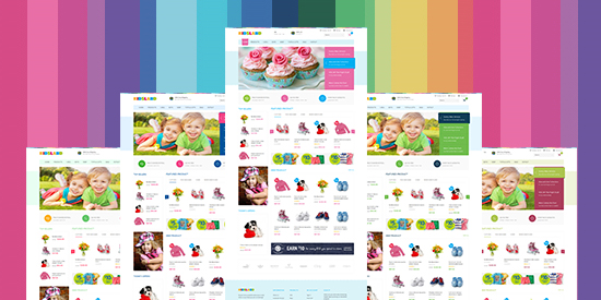 Responsive Magento theme Kidsland feature