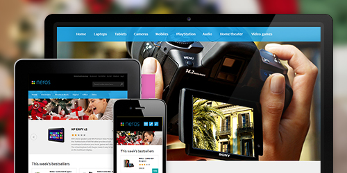 responsive Magento theme Neros feature