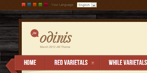 Responsive Magento theme Odinis feature