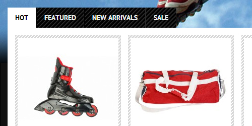 Responsive Magento theme Skates feature