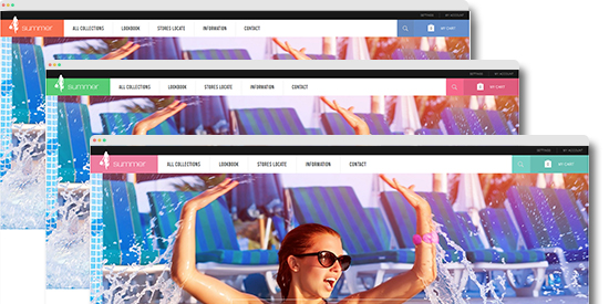 responsive Magento theme Summer feature