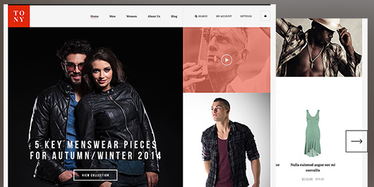 responsive Magento theme Tony feature
