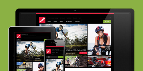 Responsive Magento theme Trex feature