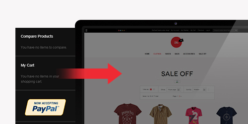 Responsive Magento theme Zite feature
