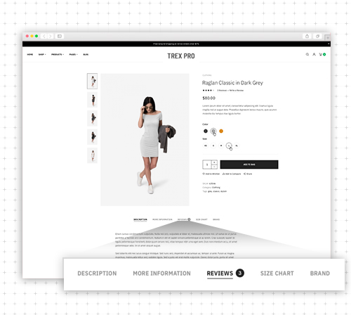 Responsive Magento 2 theme - UB Trex Pro Advanced Product Tabs