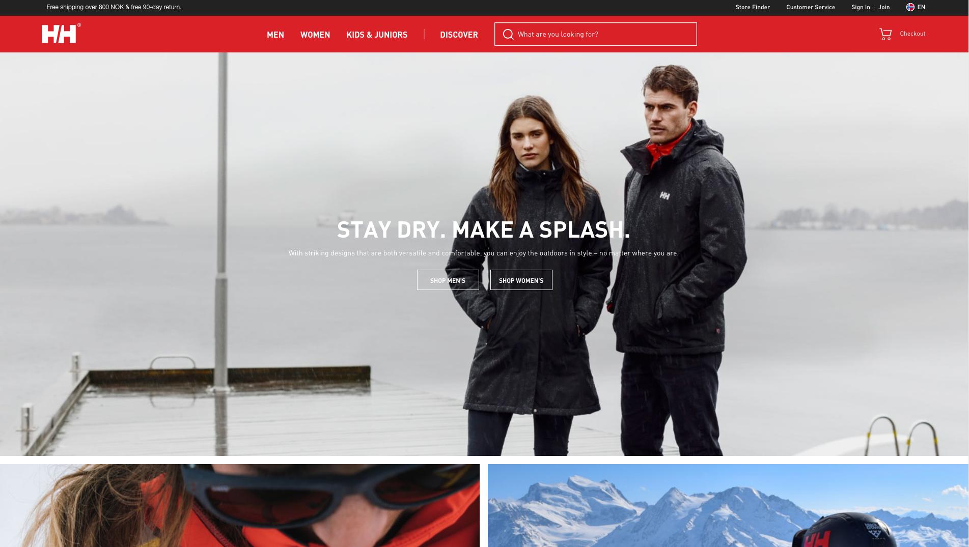 Magento 2 websites - Hellyhansen