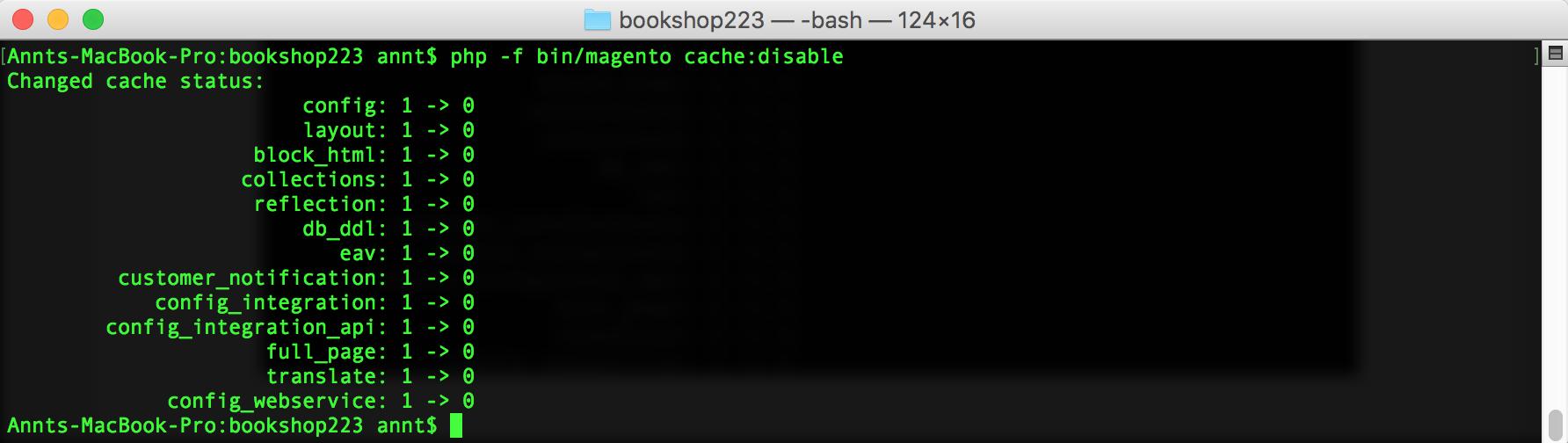 Disable Magento 2 cache
