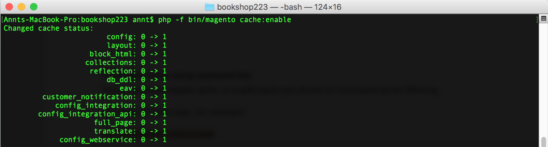Enable Magento 2 cache