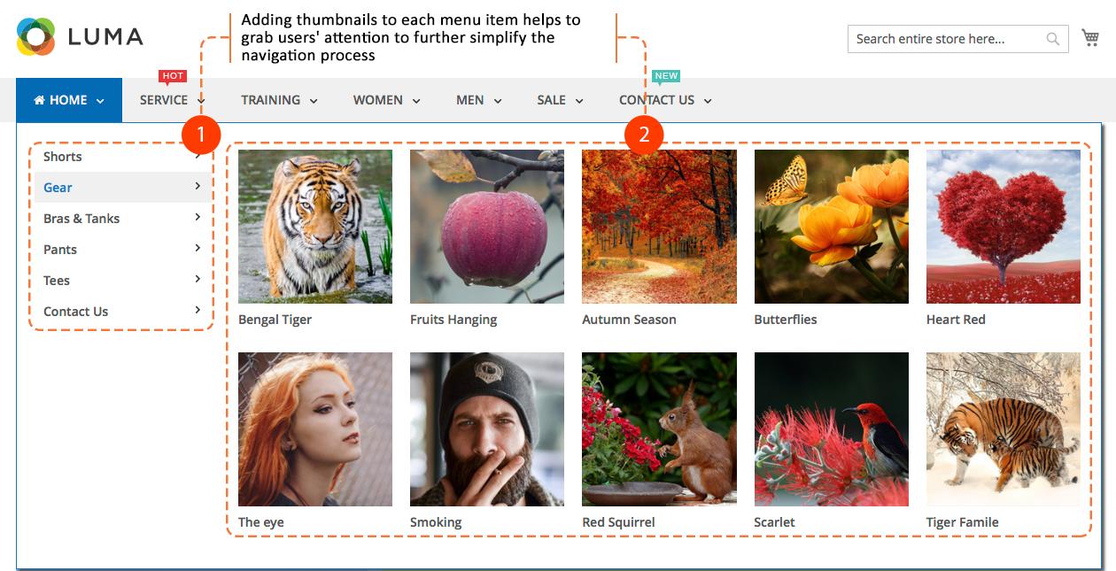 Magento 2 mega menu - Adding thumbnails