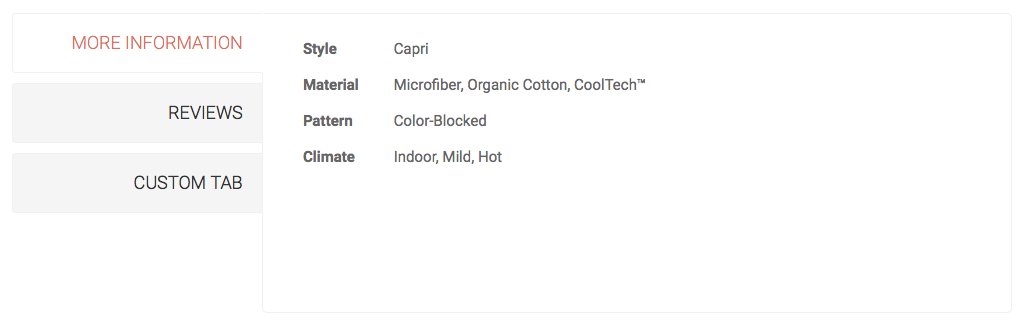 Magento 2 product attributes - Showing additional info on product page