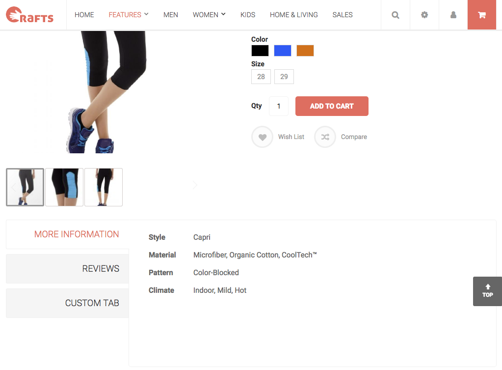 A custom product tab in (Magento 2) Crafts 2.0 theme