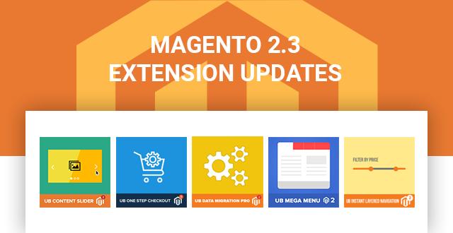 Magento 2.3.0 Updates