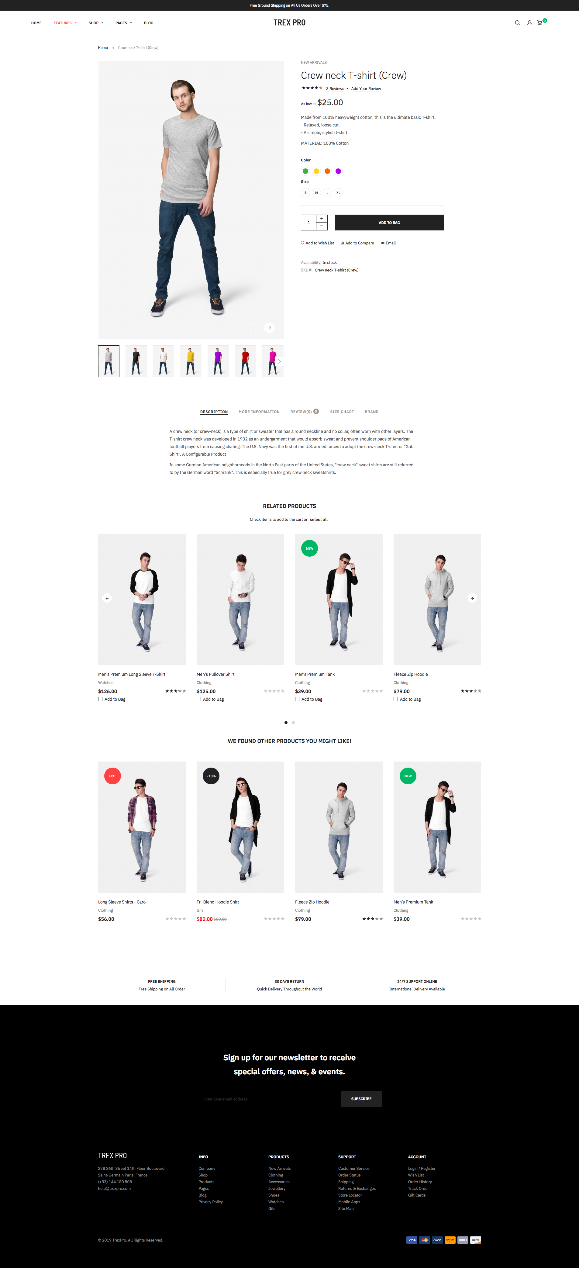 Magento 2 theme - Product Page with Classic Description