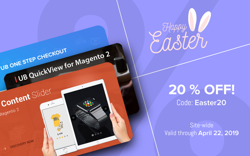 Easter Deals - Magento 2 Extensions and themes