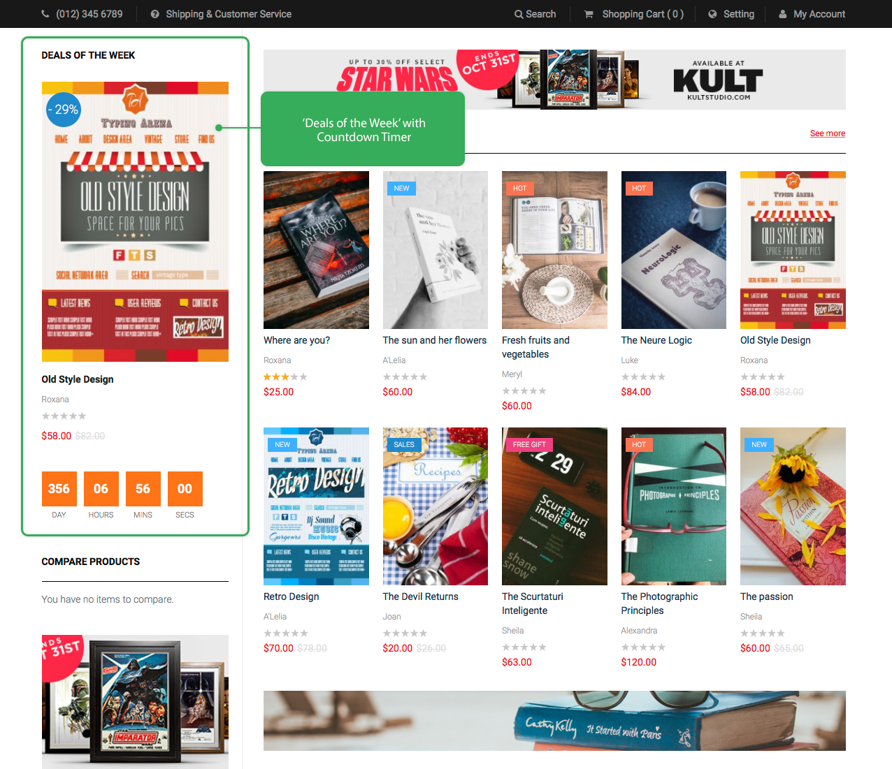 UB Bookshop - Magento 2 themes - Deals of the week
