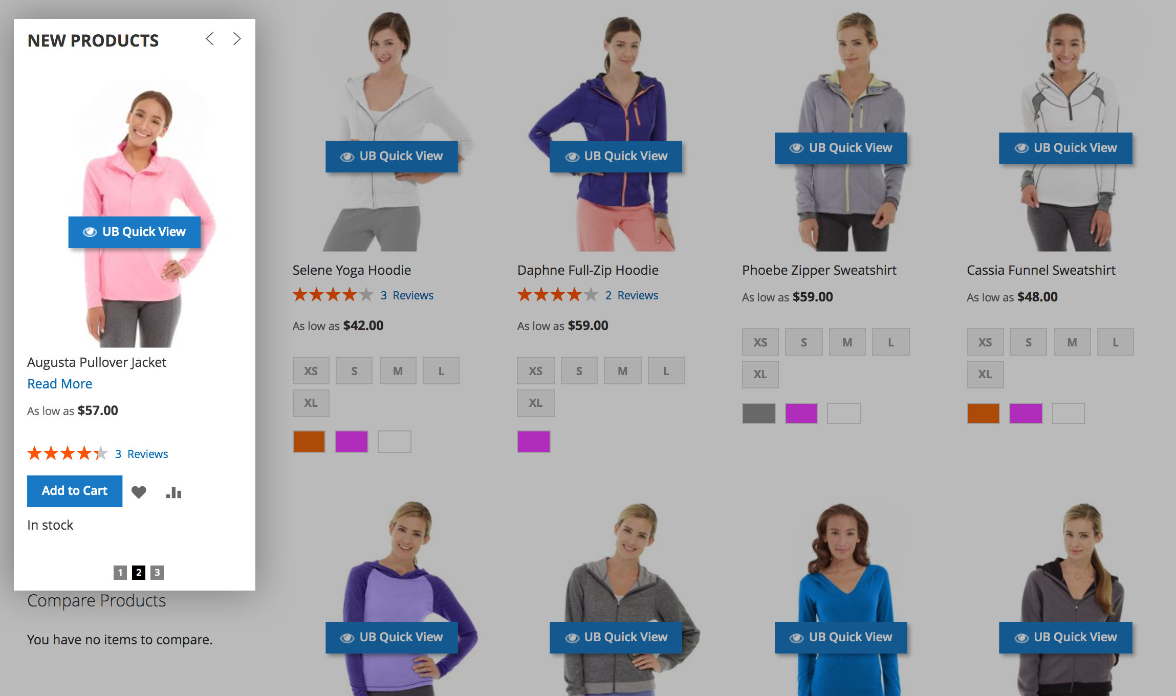 Magento 2 content slider - New product slider on the sidebar