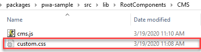 Magento PWA tutorial - Create the custom.css file