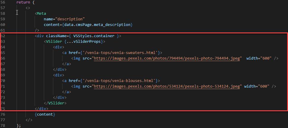 Magento PWA tutorial - Add custom code to the cms.js file