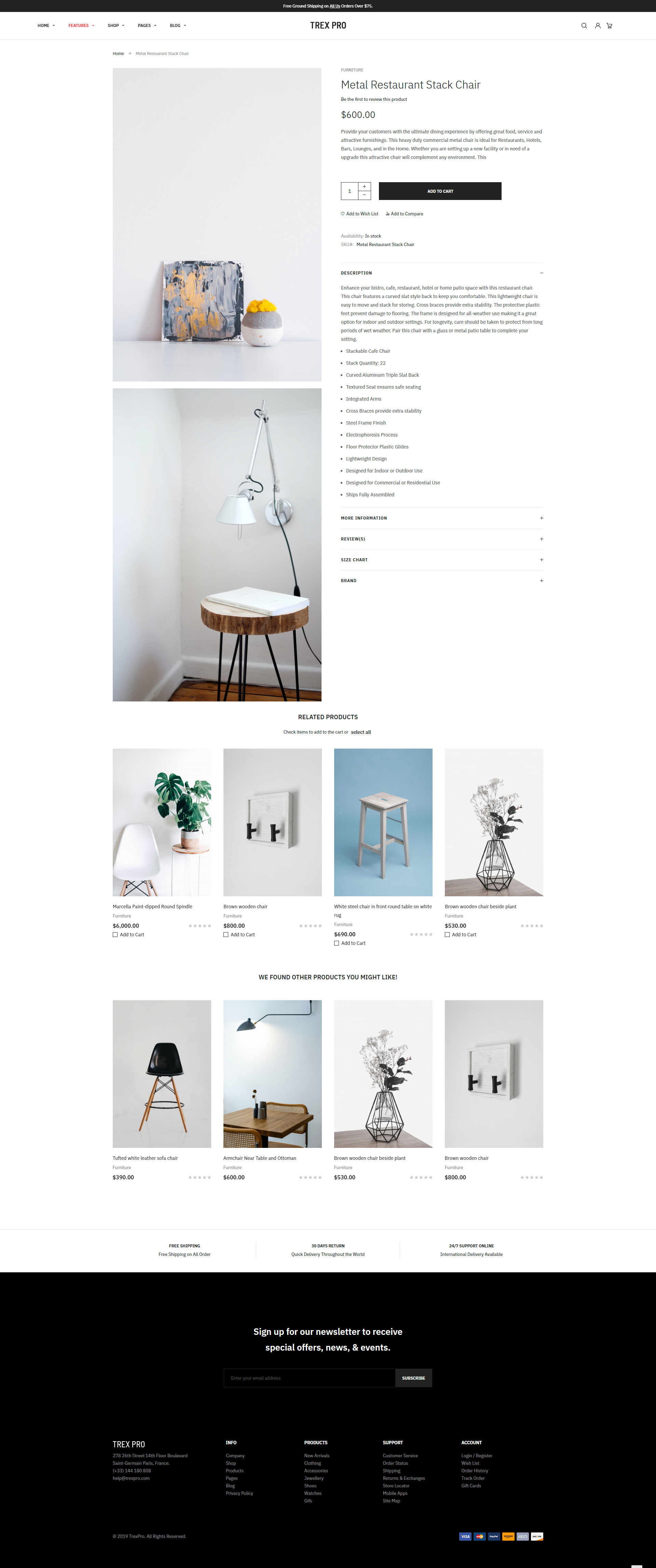 New Furniture Product Page - UB Trex Pro theme