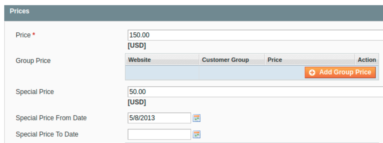 Special price configuration of a Configurable Product in Magento 1