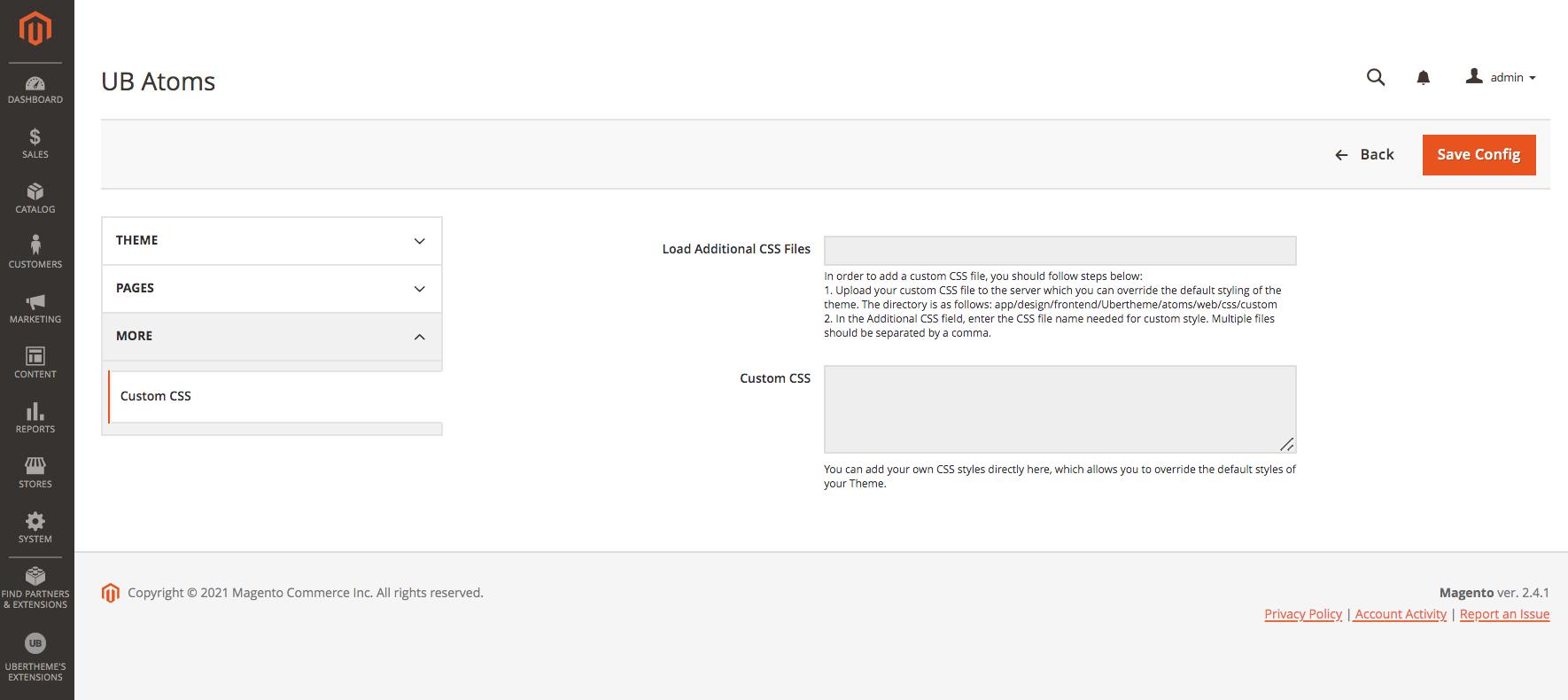 UB Atoms Customization
