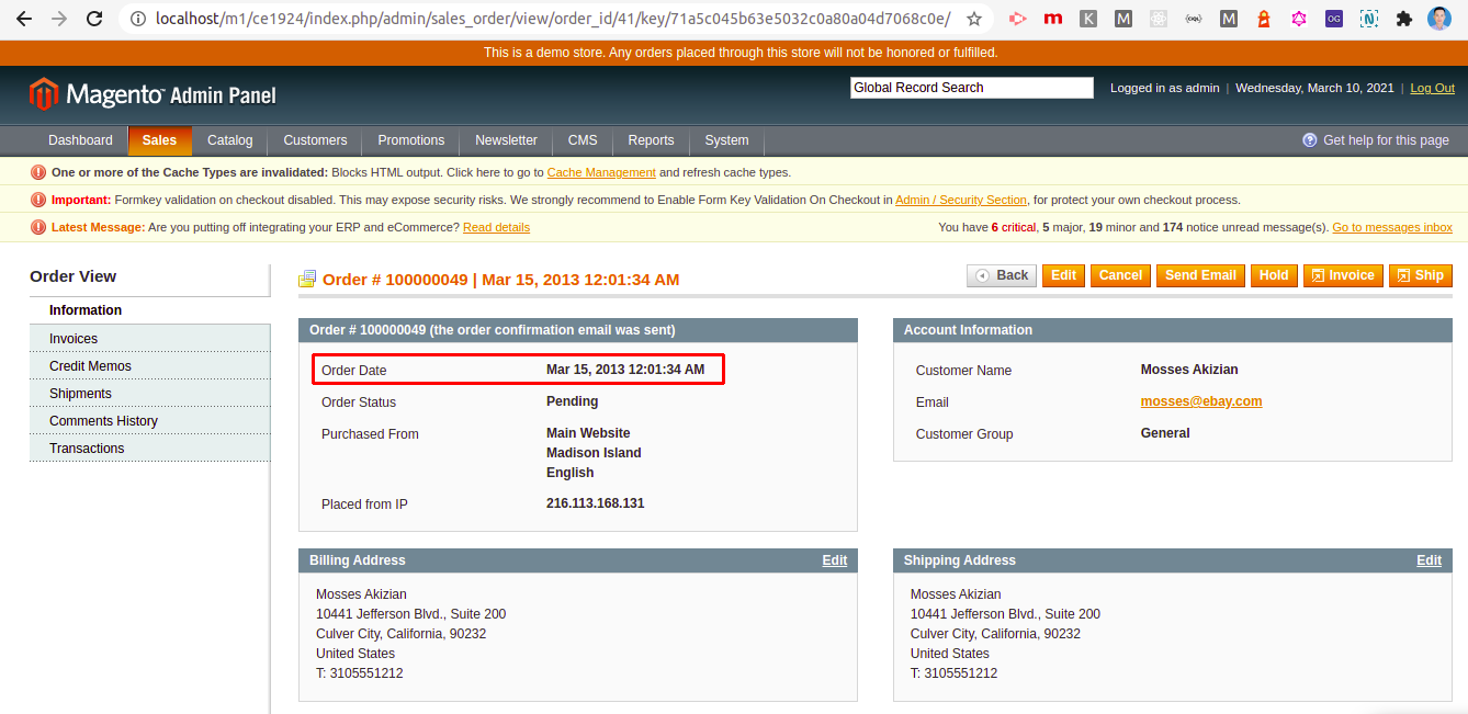 UB Data Migration Pro - Order date in Magento 1