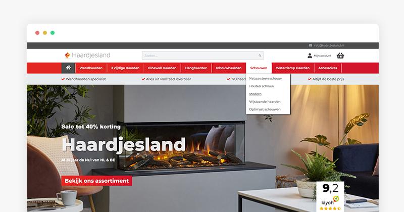 Magento 2 Mega Menu Showcase - Haardjesland