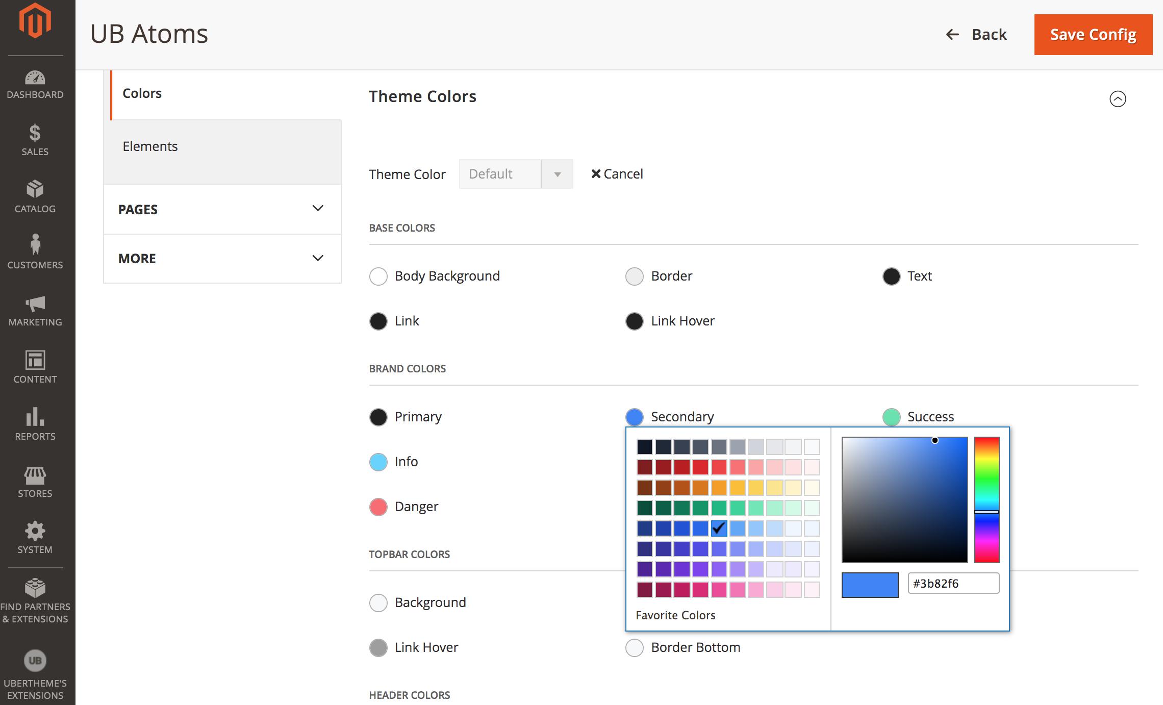 UB Atoms - Color Palette Configuration