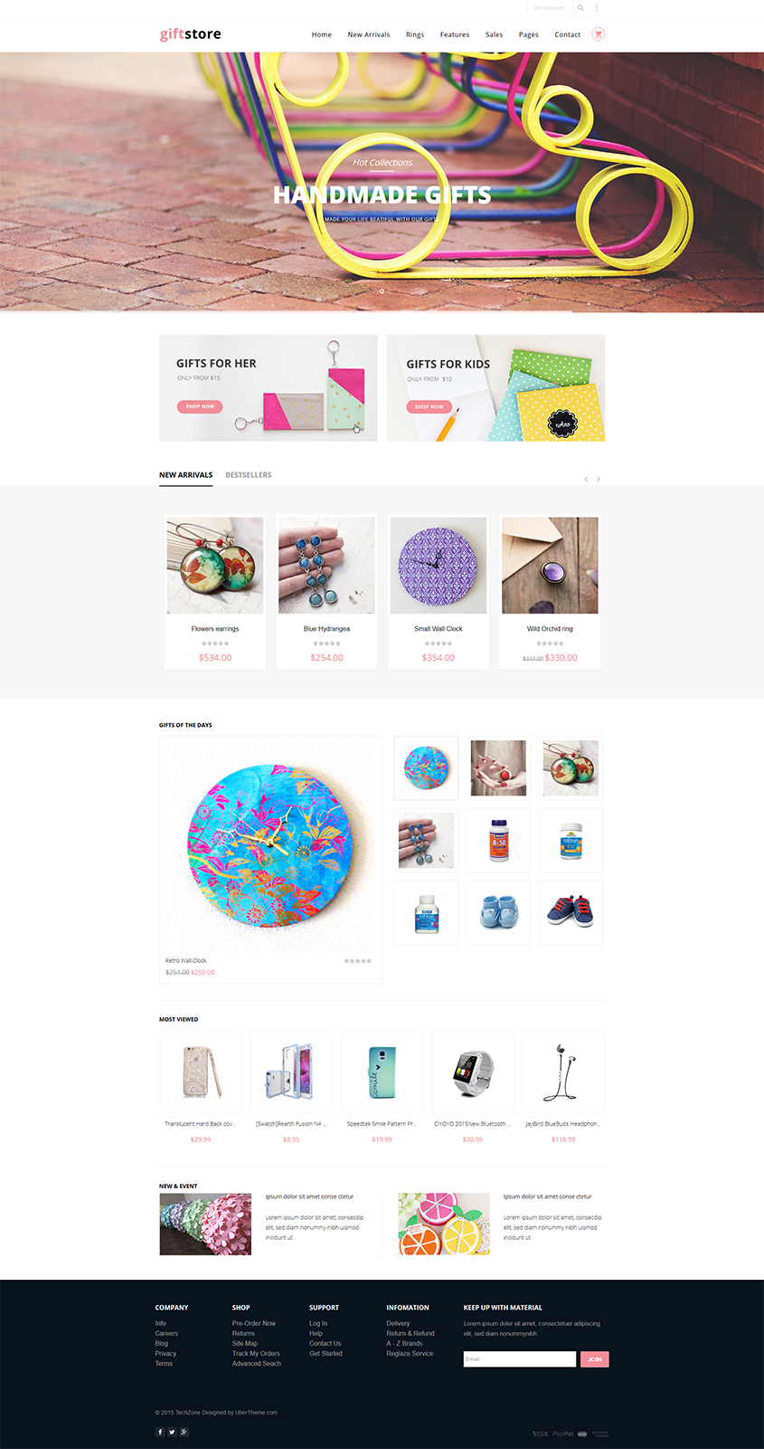 Magento theme for Handmade and Accessories store