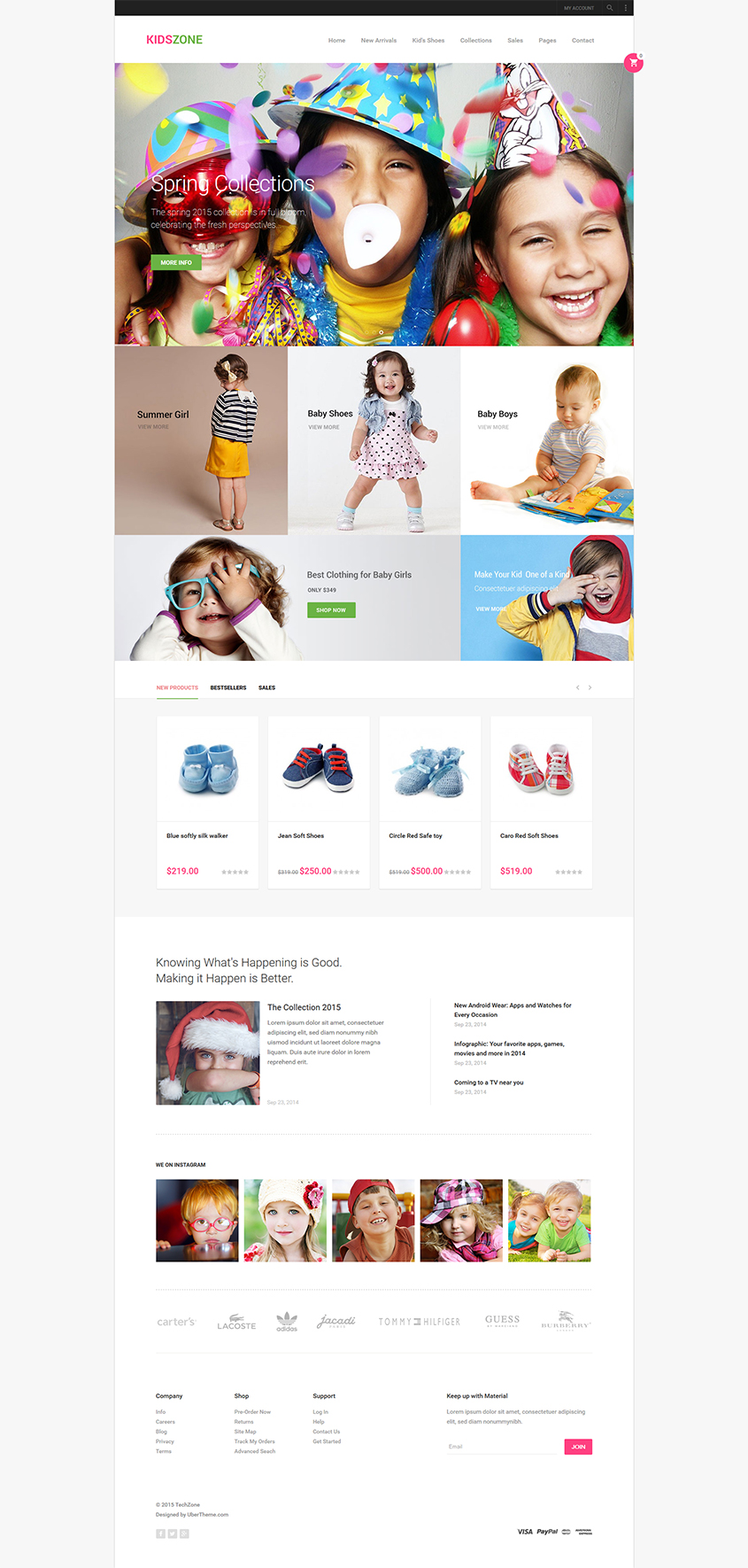 Magento theme for kid store