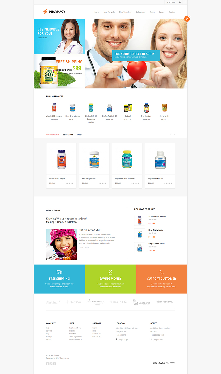 Magento theme for Pharmacy store