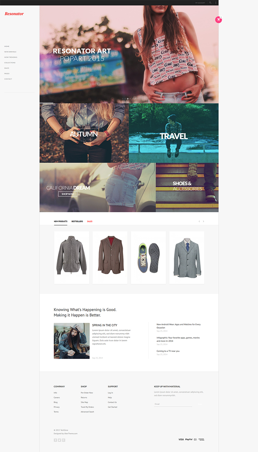 Magento theme for Fashion and Sporty store