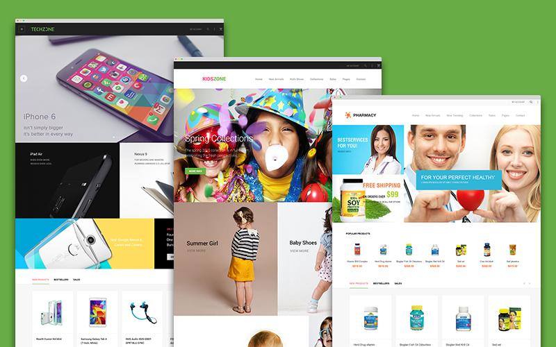 Magento multi-purpose theme with multiple custom