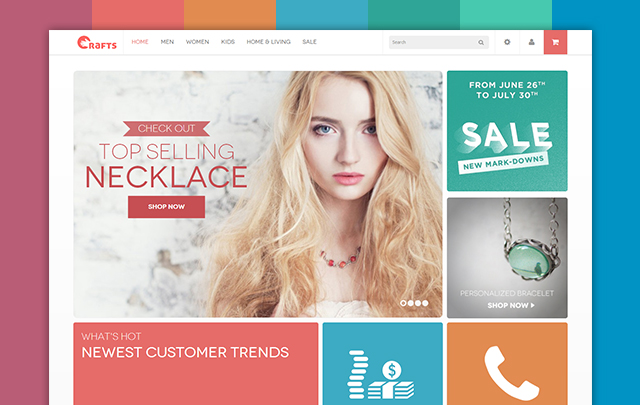 2 - Crafts - Responsive  theme for handmade or accessories store