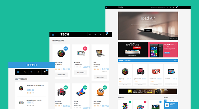 Responsive layout in Responsive Magento theme iTech