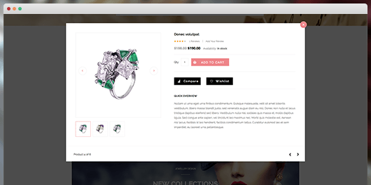 responsive Magento theme Gem feature