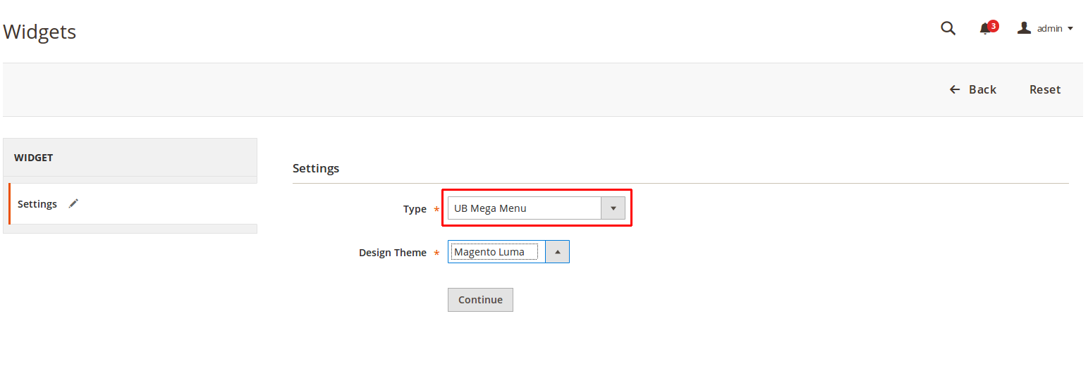 Magento 2 Mega Menu - Setting