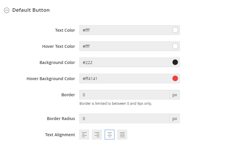 UB Theme Helper - Default Button