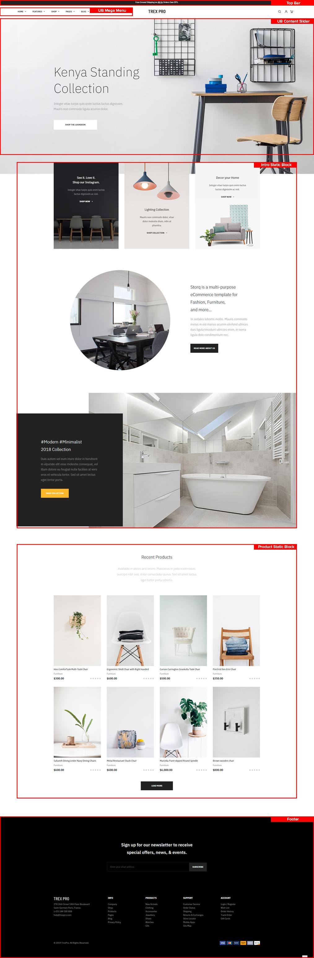 UB Trex Pro Furniture Homepage